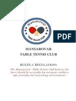 TT CLUB RULES