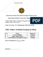 Afridi Muhammad Adil Khan - Ethics and Fiqh for Everyday Life - Ethics of Halal Earning In Islam