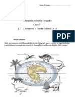 Olimpiada Geografie, cl.6