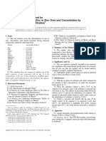 E945-96 Standard Test Method for Determination of Zinc in Zinc Ores and Concentrates by Complexometric Titration