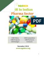 CSR in Indian Pharma Sector-2014-15