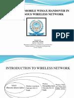 WiMax handover presentation