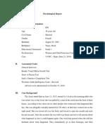 Sample of Psychological Report