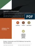 Applications of biosystematics