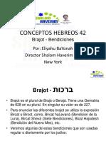 conceptos hebreos 42 Bendiciones