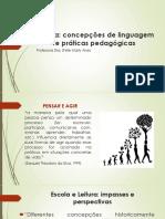 PPT - Leitura - concepções e práticas pedagógicas