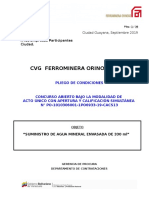 Pliego de Condiciones AGUA ENVASADA 300 ML_0