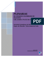 Plenarias Congreso de Filosofia