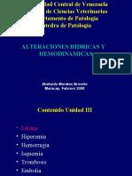 Alteraciones hidricas y hemodinamicas
