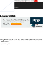 Polynomials Class 10 Extra Questions Maths Chapter 2 - Learn CBSE