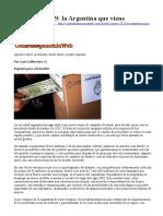 2019-06-25 Contrahegemonía Web Lafferreire Elecciones 2019 la Argentina que viene