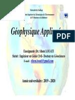geophysique appliquée Master de recherche CHAPITRES 1 ET 2