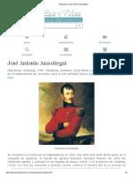 Biografia de José Antonio Anzoátegui