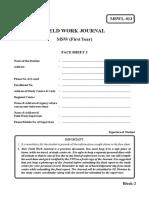 Block-2 Field Work Journal