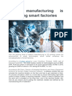 Smart manufacturing is propelling smart factories