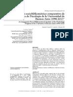 Fierro, di Domenico & Klappenbach 2019 Analisis sociobibliometrico comparativo de la carrera de Psicologia de la UBA, 1996-2017
