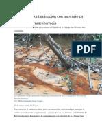Denuncian contaminación con mercurio en aguas de Barrancabermeja