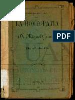La Homeopatía-Miguel Granier