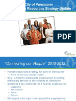 City of Vancouver - 2010 Human Resources Strategy Update