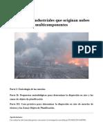 Accidentes industriales que originan nubes multicomponentes