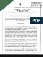 DECRETO 46 DEL 16 DE ENERO DE 2020
