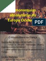 1_As monarquias absolutistas da Europa Ocidental