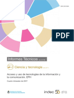 Acceso y uso de tecnologías de la información y INDEC