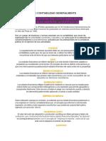 14 PRINCIPIOS DE CONTABILIDAD GENERALMENTE ACEPTADOS