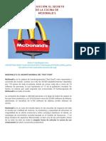 EL SECRETO DE LA COCINA DE MCDONALD