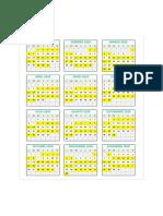 calendario de turno 2020