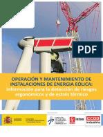 Guía OPERACIÓN Y MANTENIMIENTO DE INSTALACIONES DE ENERGIA EÓLICA