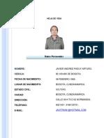HOJA DE VIDA JAVIER PASUY