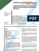 NBR-IEC 50 - 1997 - Vocabulário Instalações Elétricas em Edificações glossário