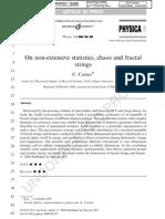 On Fractal Strings and Non-extensive Tsallis Statistics