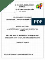 INTERPRETACION Y SIGNIFICADO DE LA PRACTICA DOCENTE