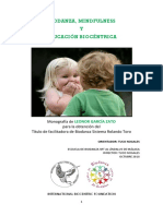 Monografía Biodanza Mindfulness y Educación Biocéntrica. Elaborada Por Leonor García Zato