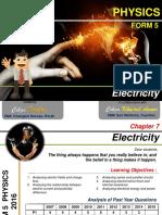PHYSICS. Electricity FORM 5. Cikgu Khairul Anuar. Cikgu Desikan SMK Changkat Beruas, Perak. Chapter 7. SMK Seri Mahkota, Kuantan.