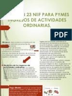 INGRESOS DE ACTIVIDADES ORDINARIAS, SECCIÓN 23