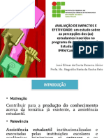 AVALIAÇÃO DE IMPACTOS E EFETIVIDADE - versão final - 28 MAIO 2019