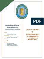 BILL OF LADING (B-L) - COMERCIO