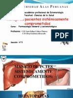 Manejo de pacientes Sistemicamente comprometidos en la practica odontológica-farcamcología