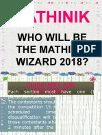 Mathinik Powerpoint
