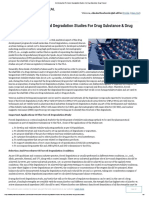 An Introduction To Forced Degradation Studies For Drug Substance Drug Product