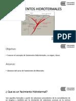 02.YACIMIENTOS HIDROTERMALES - M.E.R. PRESENTACIÓN
