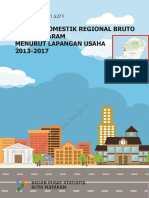Produk Domestik Regional Bruto Kota Mataram Menurut Lapangan Usaha 2013-2017