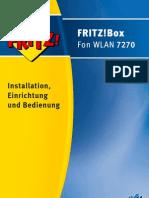 Handbuch FRITZ!Box Fon Wlan 7270