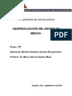 Despenalización del aborto.