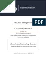 INFORME FINAL DE PRÁCTICAS PRE PROFESIONALES