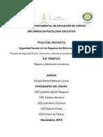 Anteproyecto Equipo 8 Seguridad Escolar y Prevencion