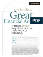 How to Become a Good Financial Analyst